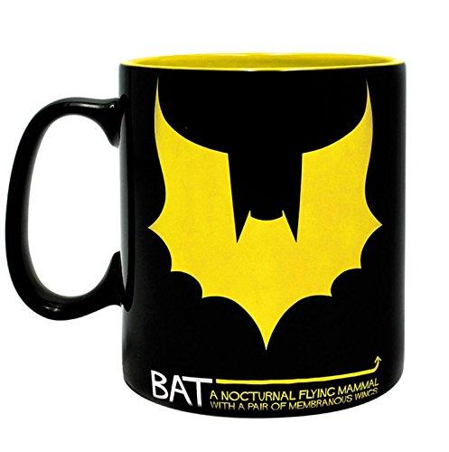 DC Comics XL Tasse BAT/Man - Batman Tasse optische Täuschung - Rubinsche Vase