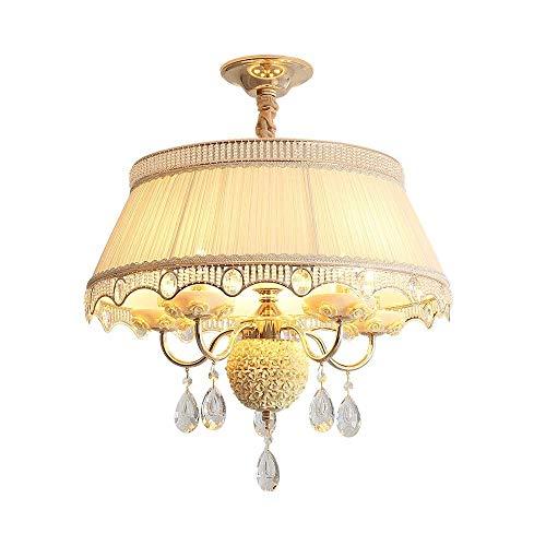 CHENJIA Araña - Crystal gota de agua iluminación de la lámpara LED de montaje a ras de techo de la lámpara pendiente del accesorio ligero de Comedor Baño Dormitorio Sala (Color : Yellow)