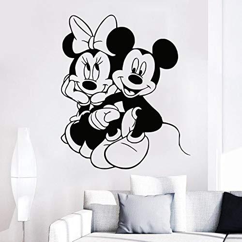 BailongXiao Kinderzimmer Cartoon Maus wandaufkleber Vinyl wandtattoo spielzimmer Indoor abnehmbare Dekoration Kindergarten Aufkleber 63x73 cm