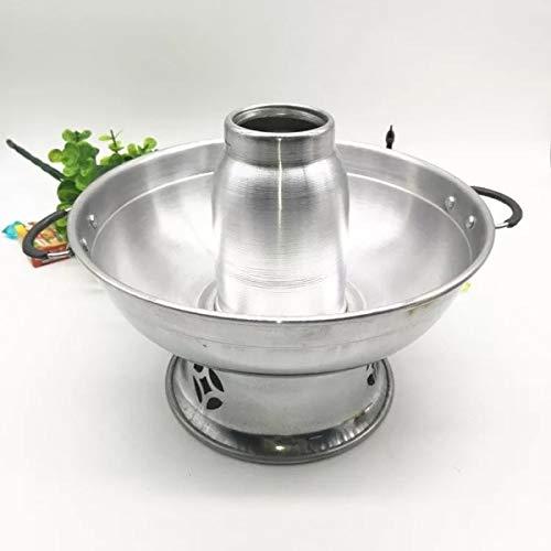 Strumenti della cucina carbone inverno caldo pentola wok caldo pentola pentolino (Color : Silver, Size : 22cm)