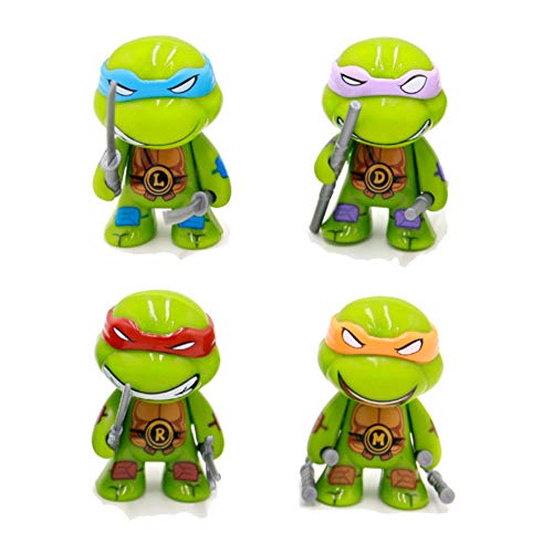 Teenage Mutant Ninja Turtles Series 2 3' Action Figure Toys of 4pcs TMNT/Leonardo Da/Raphael/Michelangelo/Donatello Set