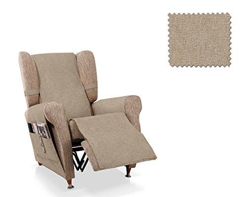 JM Textil Couvre Fauteuil Relax Pharma Taille 1 Place (55 Cm.), Couleur Vison