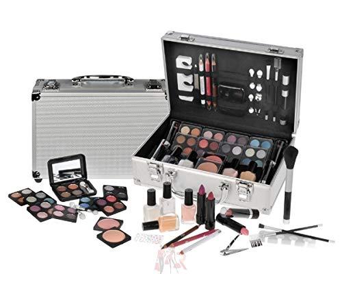 Schminkkoffer Set Alu Profi-Qualität mit French Manicure 58 teilig