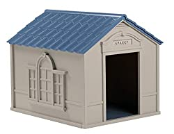 Suncast Large Deluxe Dog House with doors