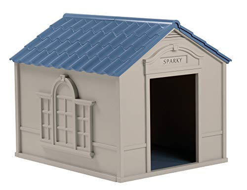 Suncast Outdoor Dog House with Door -...