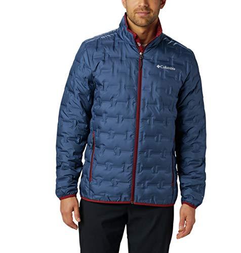 Columbia Men's Delta Ridge Down Winter Jacket, Insulated, Water repellent, 4X/Tall, Dark Mountain
