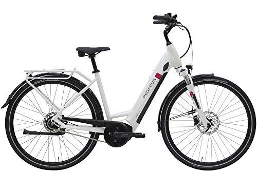 ZEG Pegasus Solero Evo 8R Damen Wave E-Bike Pedelec 2020, Rahmenhöhe:55 cm, Farbe:weiß, Kapazität Akku:500 Wh