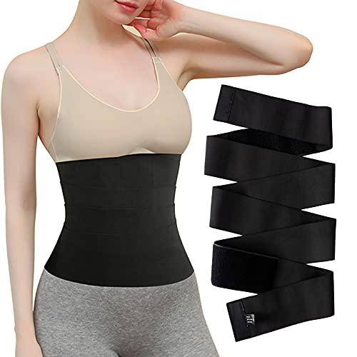 Ceinture De Sudation Femme Waist Trainer, Corset Ventre Sauna Taille Réglable SBelt Body Shaper limming Belt 13 ft (Black)