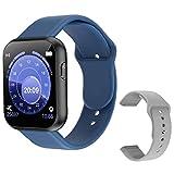 Smart Watch Full Touch Bluetooth SmartWatch con correa de repuesto gris Prueba de frecuencia cardíaca X6 PLUS Pulsera inteligente deportiva para hombres Herramientas azules gratis