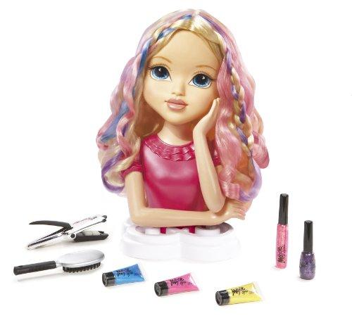 Moxie Girlz, Tête à Coiffer Avery, longs cheveux à coiffer et colorer, ongles à vernir, Accessoires coiffures, pour toi aussi, Jouet pour Enfants dès 5 Ans, 1495