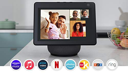 All-new Echo Show 10 (3rd Gen)   HD smart display with motion and Alexa   Charcoal