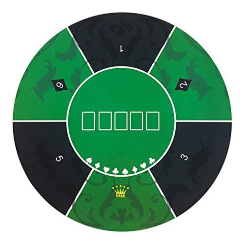 FAEIO 1,2 × 1,2 m Multifunktion Weich und bequem Texas Hold 'em Gummimatte - Einfach zu säubern - Nicht verblassen Tischdecke Tischmatte Gummimatte - Geeignet für Menschen jeden Alters Green