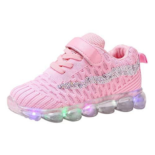 Jaysis Mädchen Jungen Kinderschuhe Mesh Led Luminous Sport Run Sneakers Casual Shoes Es Eignet Sich für Verschiedene Sportarten Wie Joggen Camping Wandern