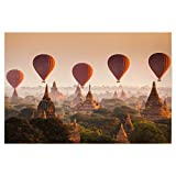 artboxONE Poster 45x30 cm Natur Hot air Balloon in Myanmar