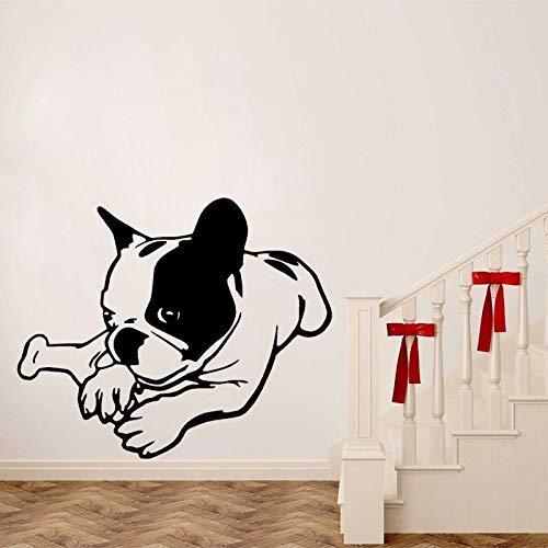 Lustige Französische Bulldogge Pvc Wandaufkleber Aufkleber Für Schlafzimmer Dekoration 59 Cm * 48,3 Cm