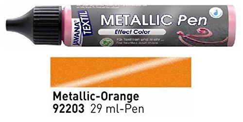 Javana Textil Metallic Pen Effect Color Orange 29ml VE=1St.