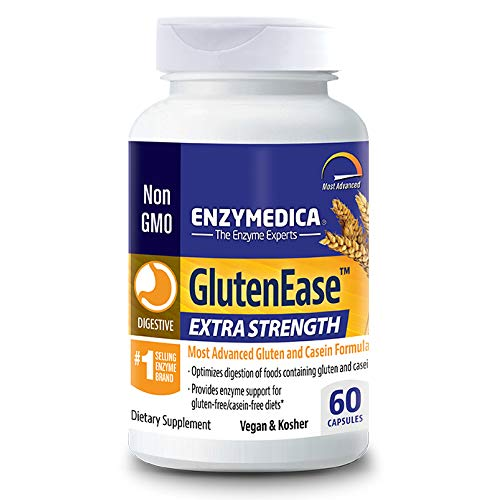 Enzymedica, GlutenEase Extra Strength, Digestive Aid for Gluten and Casein Digestion, Vegan, Non-GMO, 60 Capsules (60 Servings) (FFP)