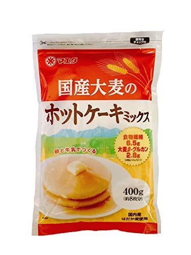 マエダ 国産大麦 ホットケーキミックス 400g×10個セット
