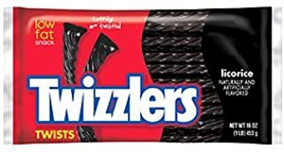 Twizzlers Black Licorice Twists 16-Ounce (Pack of 3) [並行輸入品]