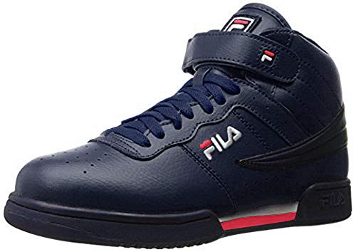 Fila Men's F-13v Lea/syn Fashion Sneakers, Azul marino, blanco, rojo, 10 D(M) US