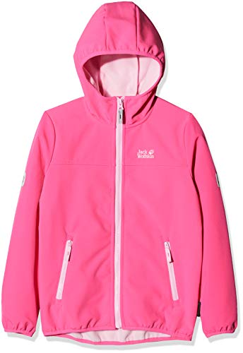 Jack Wolfskin Kinder Fourwinds Jacket Kids Softshelljacke, pink fuchsia, 116