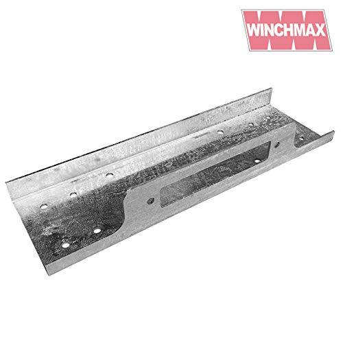 Winchmax Winch Mounting plate for 13,000lb + 13,500lb Winches - Galvanized Compact