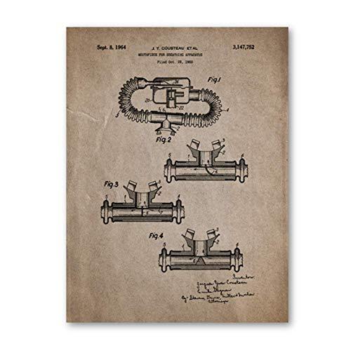 Gopfl Carteles Antiguos Traje de Buceo Regalo de Buzo Arte d
