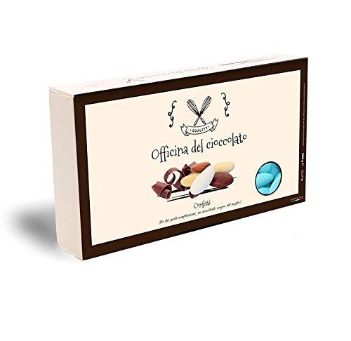 CONFETTI al Cioccolato Fondente -SCELTA TRA TANTI COLORI- Confezioni da 1 KG. (Celeste)