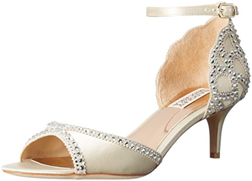 Badgley Mischka Women's Gillian Dress Sandal, Ivory, 10 M US