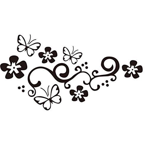 Tatuajes de la Mariposa de Vid de la Flor Pegatina para el...