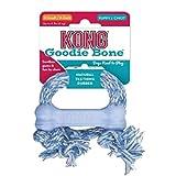 Kong Puppy Goodie Bone - XS mit Seil- Blau/Pink (sortiert)