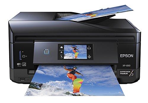 Epson XP-830 Wireless Color Photo Printer with Scanner, Copier & Fax, Amazon Dash Replenishment Ready, C11CE78201, 1