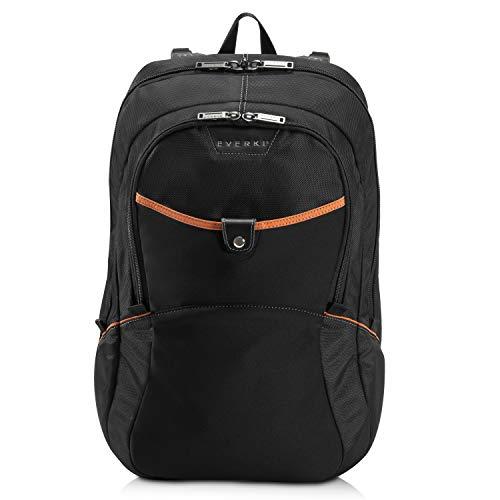 Everki Glide – Laptop Rucksack 15 bis 17 Zoll, leicht, extra Stoßfest zum Schutz hochwertiger Notebooks mit viel Platz fürs Zubehör ergonomisches Design, Schwarz