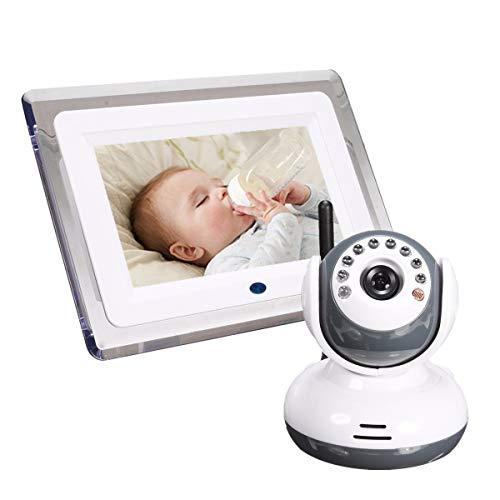 Babyphone avec caméra et Audio, écran 7' LCD HD, Pan/Tilt/Zoom, Alert instantanée, Deux Voies Audio, Gamme 1000ft, Vision Nocturne, Idéal pour Nouvelle Maman