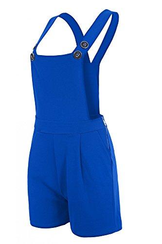 Laeticia Dreams Damen Latzhose Kurz XS S M L XL, Farbe:Royalblau, Größe:36.S