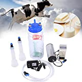 Tbest Milking Machine for Cow, Portable Electric Cow Milker Milking Machine,Adjustable Vacuum Pump, 2L Milk Container,Stainless Steel Milker for Sheep and Cows(US Plug)