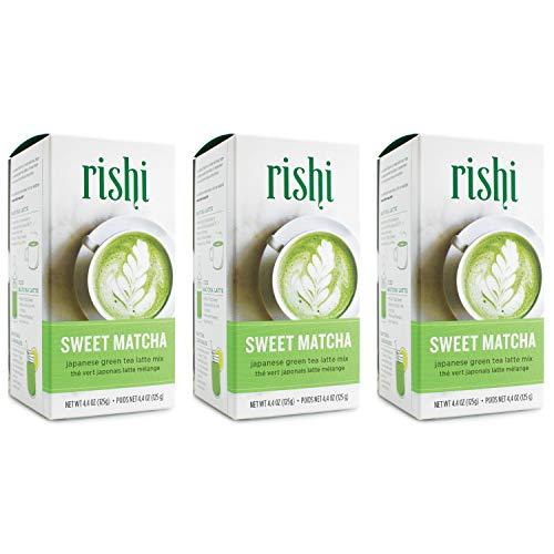 Rishi Tea Japanese Green Herbal Tea Powder, Sweet Matcha, 13.2 Ounce (Pack of 3)