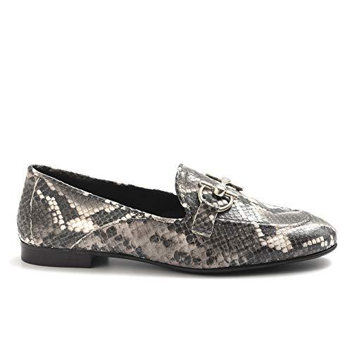 poesie veneziane scarpe POESIE VENEZIANE Mocassino Grigio in Pitone Stampato - JJA01 PATAGUNIA Lux Grey - Taglia 39
