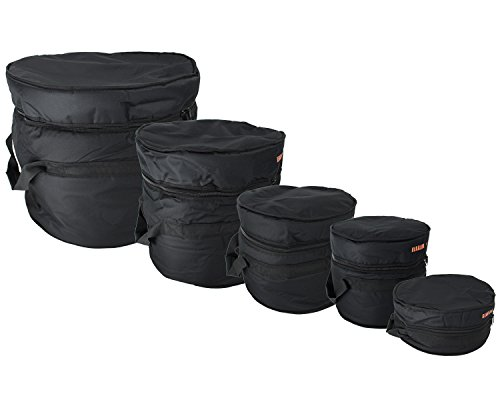 Gearlux 5-Piece Drum Bag Set for 12' Tom, 13' Tom, 14' Snare, 16' Floor Tom, 22' Bass Drum