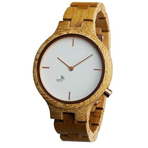 Opis UR-F1 (Arce Blanco) Reloj de Madera para Mujer/Reloj de Pulsera de Madera/Reloj Pulsera Vintage para Mujer