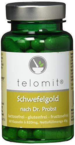 telomit Schwefelgold, schwefelhaltige Pflanzenstoffe für die Schwefelkur nach Dr. Probst, 49 g