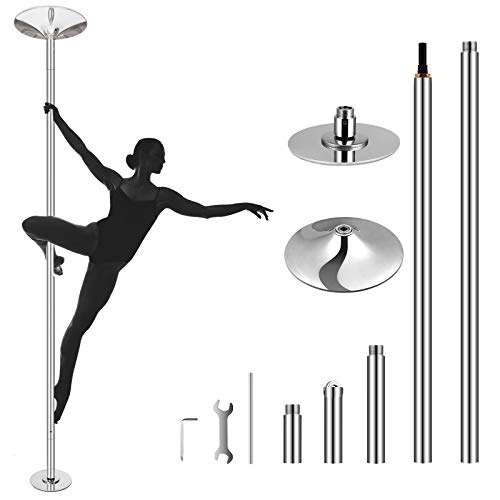 amzdeal Stripper Pole Spinning Dancing Pole for Home Portable...