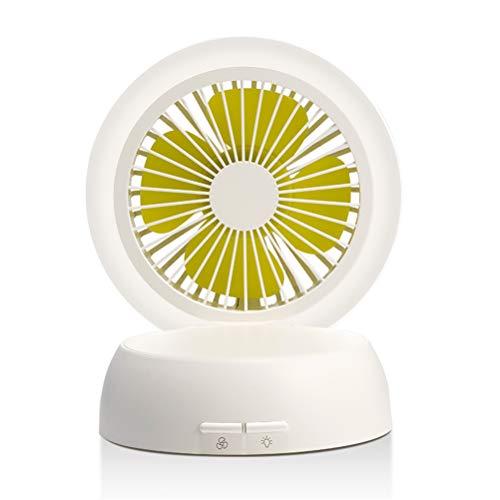 Portable Creatieve Paddestoel Lamp Ventilator, Mini USB Stille Desktop Kleine Ventilatoren Met Fold Nacht Lamp Tafellamp Functie Voor Studentenflat Slaapkamer,White