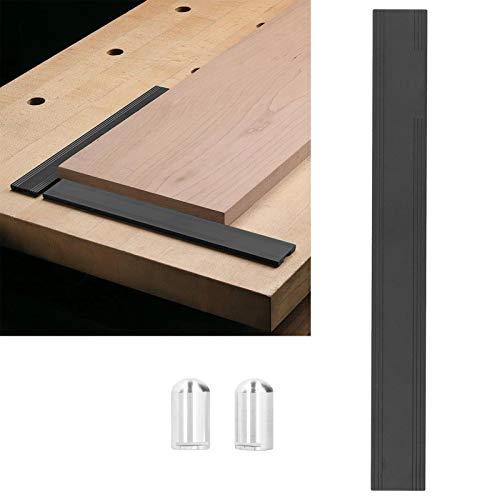 Accesorios de mesa de banco de trabajo, herramienta de carpintería, tope de cepillado de banco de trabajo con deflector de carpintería, multifuncional para carpintería(Desktop hole 19mm)