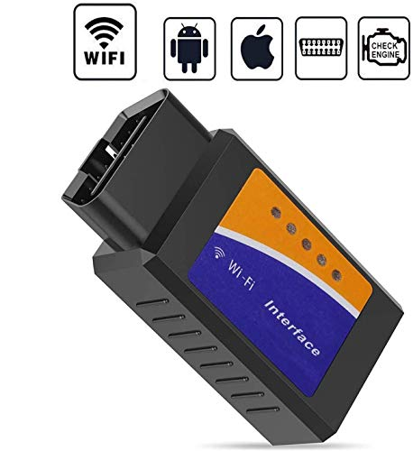 GeekerChip Auto Strumenti Diagnostici WiFi,Forte Compatibilità-Collegare Via WiFi-Compatibile con iOS, Android & Windows Dispositivi - Adatto per Maggior Parte Auto