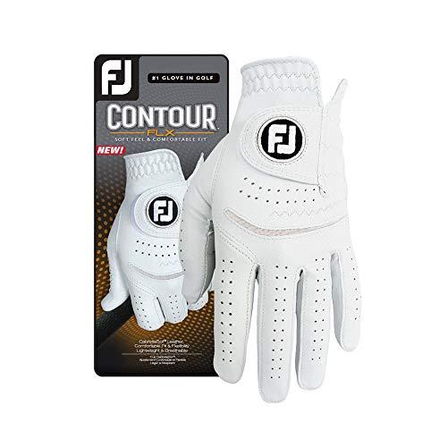 FootJoy Men s Contour FLX Golf Glove, Pearl, Cadet Medium Large, Worn on Left Hand