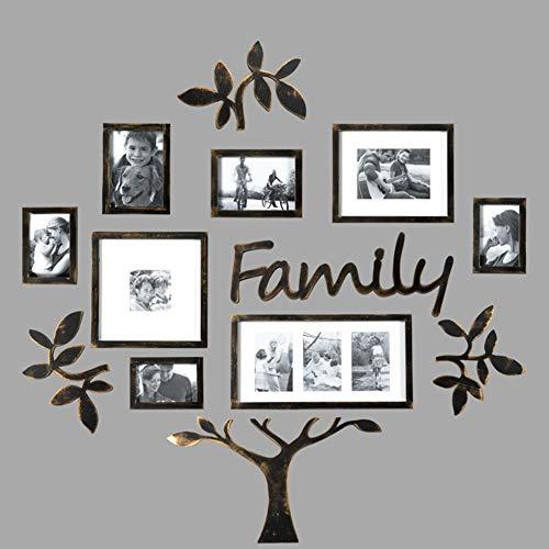 MUZIDP Wohnzimmer Home Office Fotowand,Kunststoff Bild Rahmen Collage,Foto-Rahmen-Wand Bilderrahmen Set Foto-Rahmen-Wand-golden