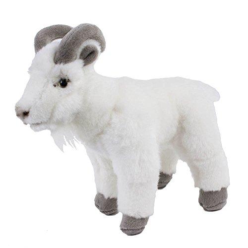 Teddys Rothenburg Kuscheltier Ziege 22 cm stehend weiß/grau Plüschziege Plüschtier