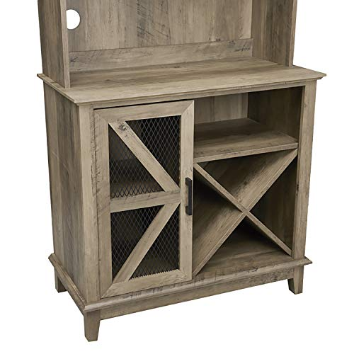 Home Source Bar Cabinet and Coffee Station (Reclaimed Wood Finish)