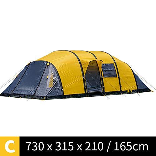 AOGUHN-tent - Wormhole Serice-tent 3-10 personen Grote campingtent Opblazen Familieteam Tenten met vier slaapkamers en één woonkamer
